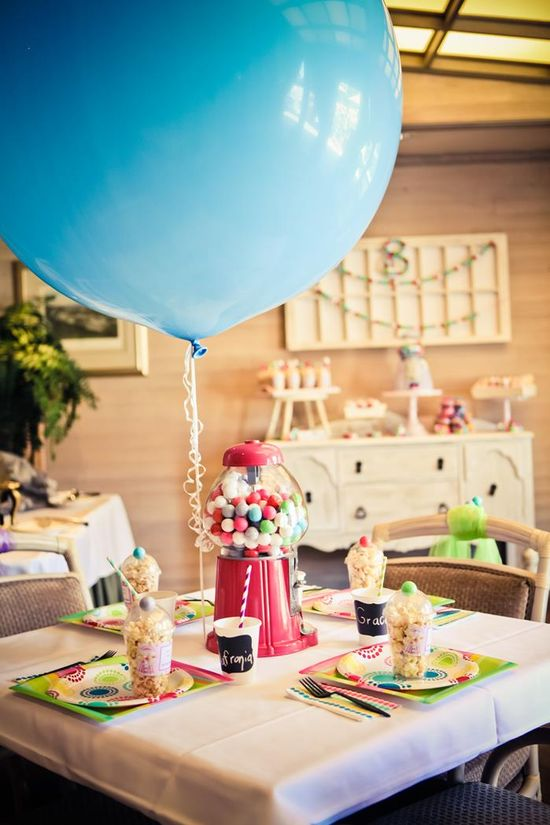 Gumball Themed 8th Birthday Party with Lots of REALLY CUTE Ideas via Kara's Party Ideas