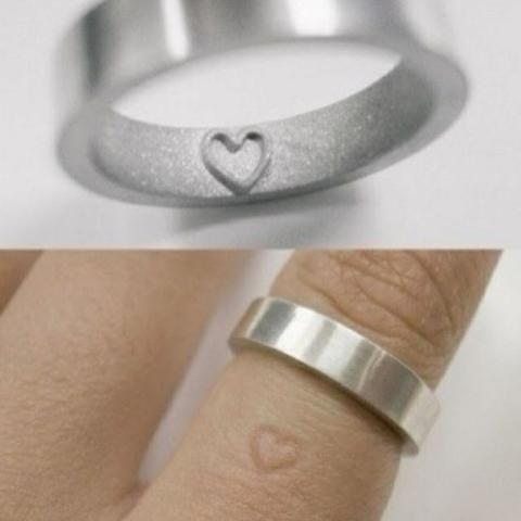 Love this idea of the ring leaving an imprint :) Not sure if it would be bothersome after a while, though.