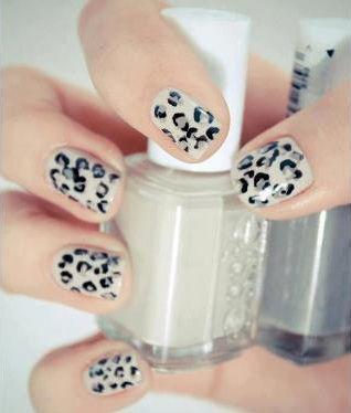white leopard nails