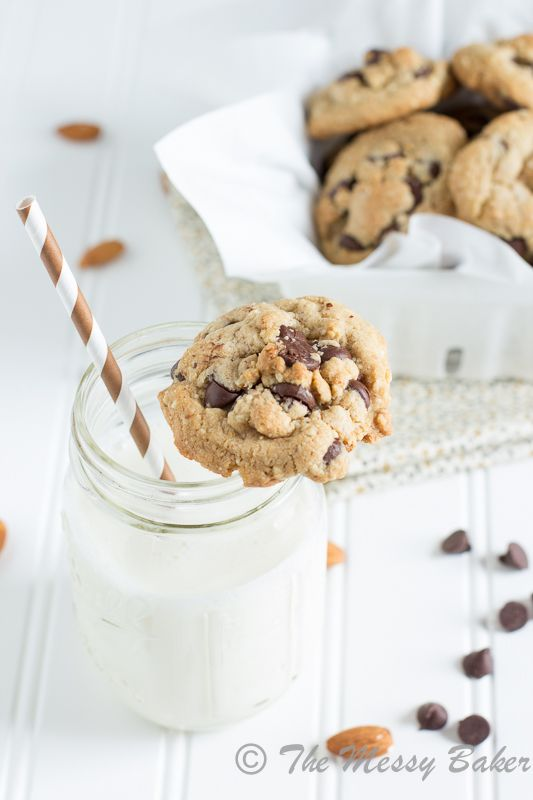 Healthier Chocolate Chip Cookies #recipe