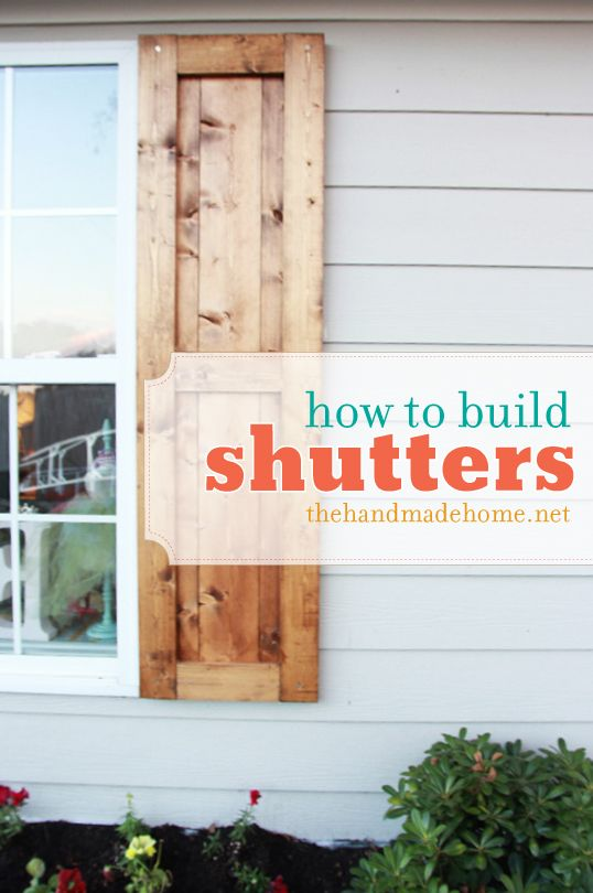 #DIY Great modern shutters from the  thehandmadehome.net