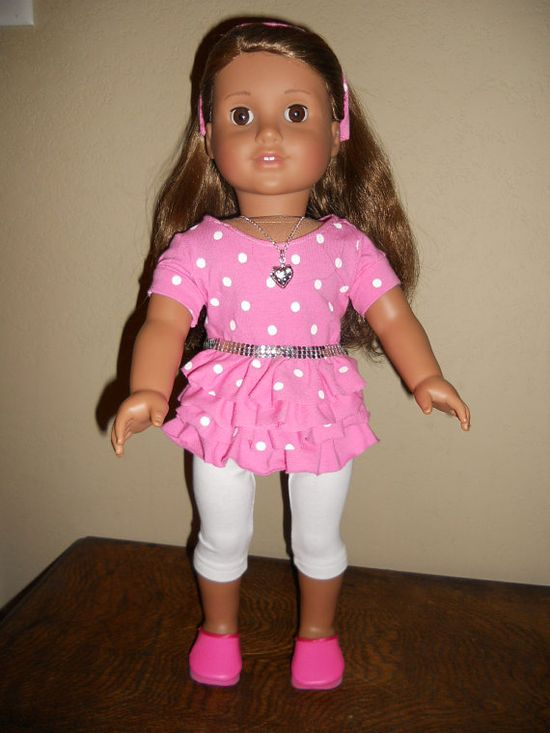 18 Inch Doll Clothes American Girl Dot Me Pink by TCsTreasures, $20.00