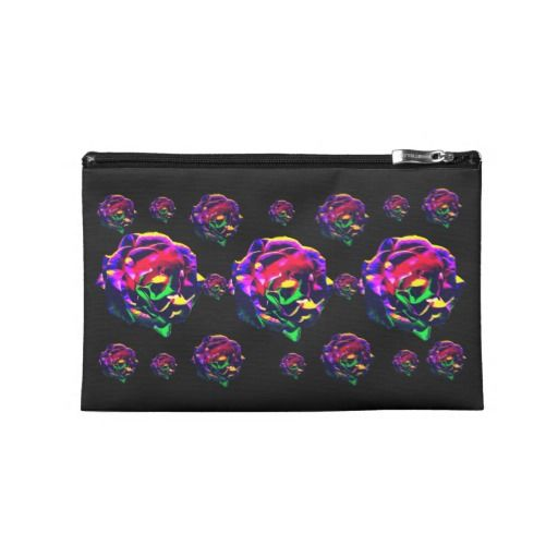 Colorful Roses Travel Accessories Bag
