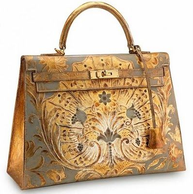 Golden Hermes bag