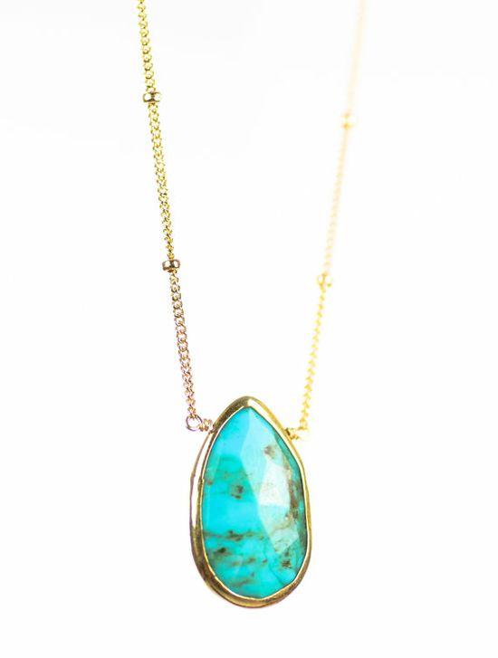 Kanae necklace  turquoise necklaceturquoise by kealohajewelry