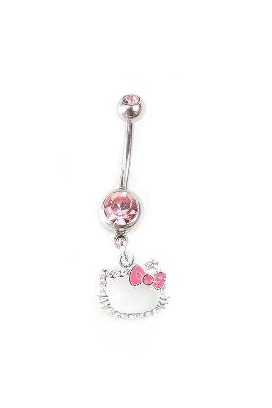 Hello Kitty belly button ring.