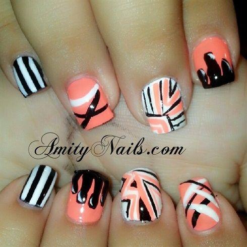 peach nails by amity4life - Nail Art Gallery nailartgallery.na... by Nails Magazine www.nailsmag.com #nailart