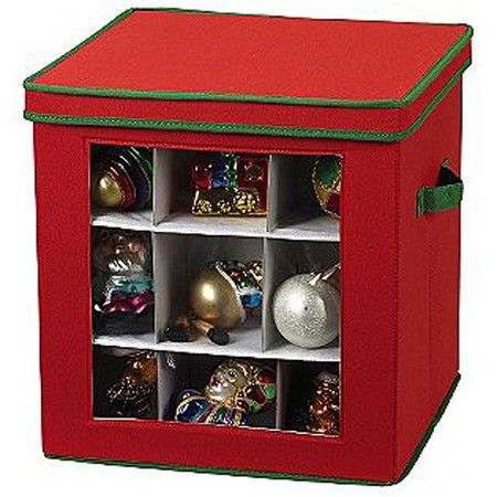 Great Storage for Ornaments or Christmas decor.