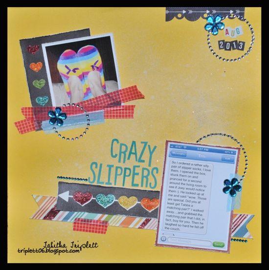 Crazy Slippers - Scrapbook.com