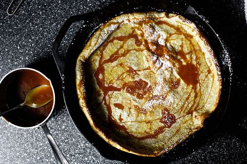 // buckwheat pancake with salted caramel