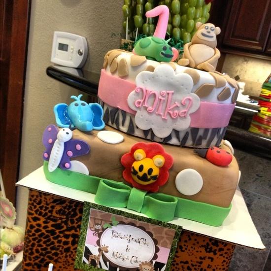 Safari Party Cake #safari #cake