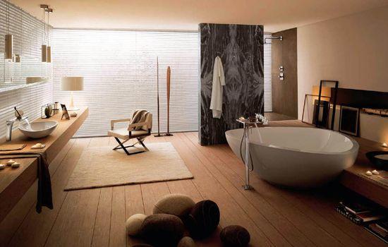 cute cozy bathroom design idea from hansgrohe