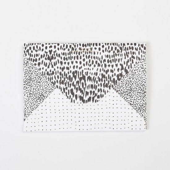 Image of PAPER STOCK Animal / Crayon-dot / Spot Diamond Flap Notebook