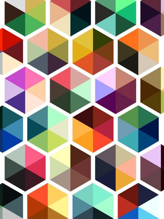 Hexagons. #coloreveryday