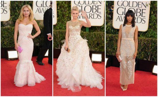 2013 #GoldenGlobes #RedCarpet Fashion Highlights #HaydenPanettiere, #JulianneHough, and #KerryWashington.