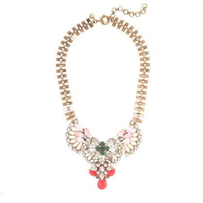J.Crew - Crystal fan necklace