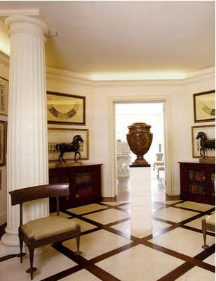 The Sutton Place entry hall  - Bill Blass