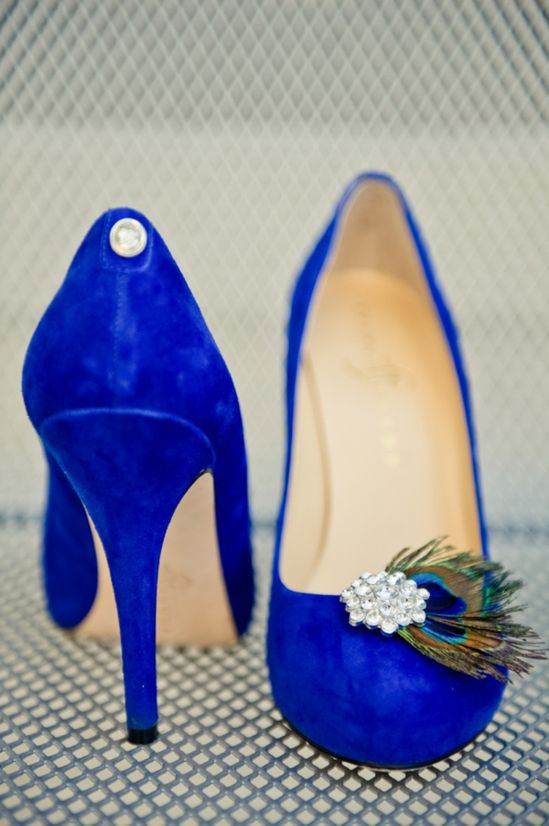 Something blue bride's shoes