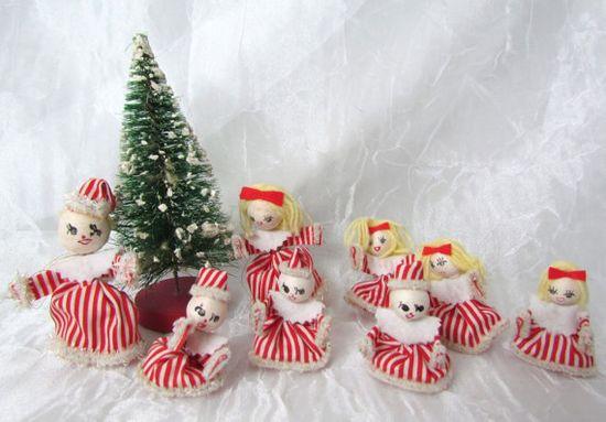 Vintage Christmas Decorations Miniature by VintagePolkaDotcom