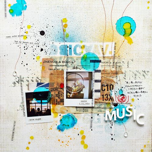 #papercraft #scrapbook #layout MUSIC by chelseavn, via Flickr