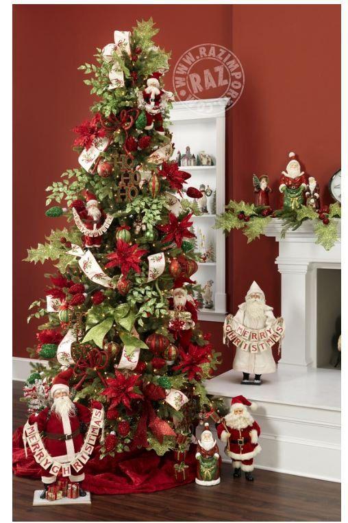 Santa theme Christmas tree  Love love