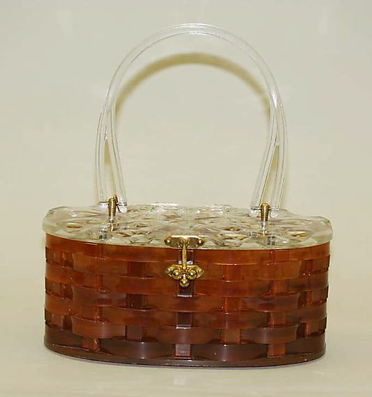 Lucite purse attributed to Patricia of Miami mid 1950's