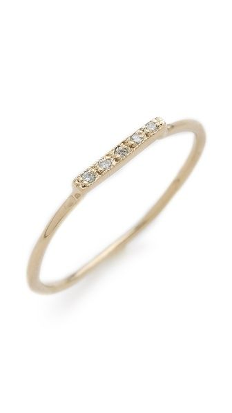 Dainty Stacking Diamond Ring / blanca monros gomez...would make a beautiful wedding band