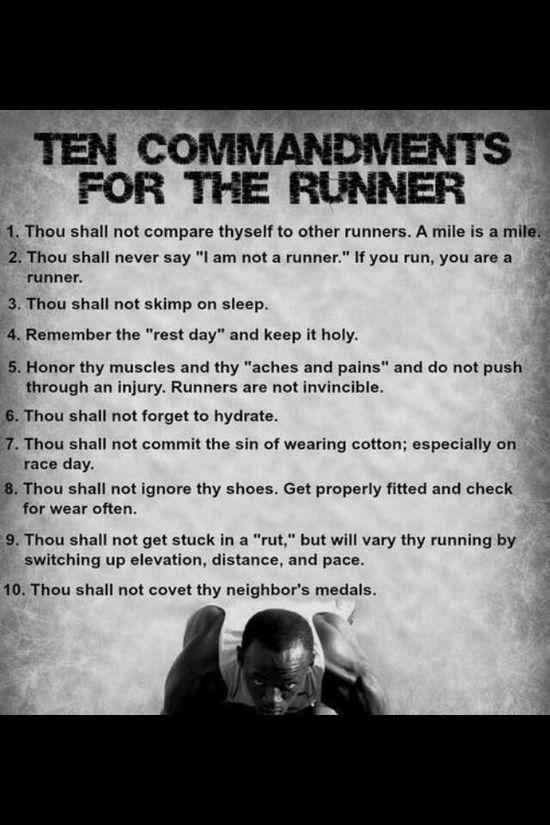 10 commandments of running