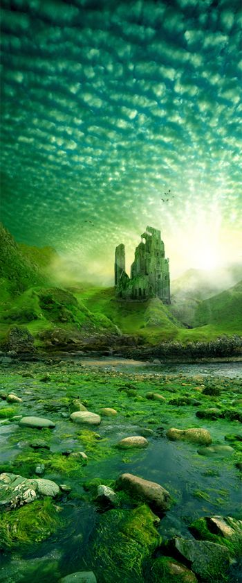 The Emerald Tower .. by ~Emokidnap