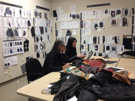 Sharon hard at work #designing her new #Danier #dress!  #Leather #CustomDress #Holidays #StyleShapers #MyDanier