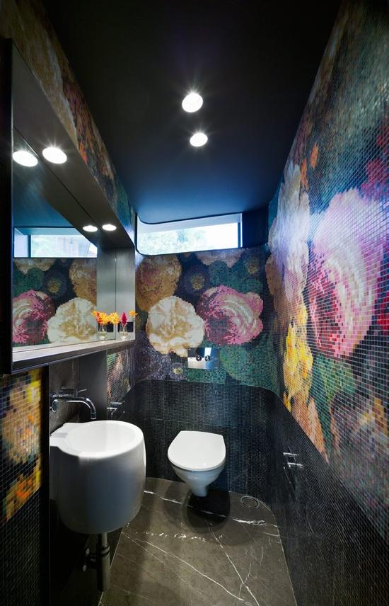 Mosaic design bathroom