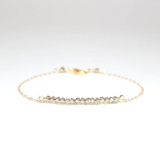Beaded Bar Bracelet  Grey Crystal by ayofemijewelry on Etsy, $30.00