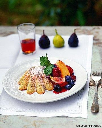 Almond Cakes with Fresh Fruit Recipe