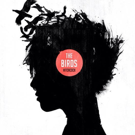 Hitchcock, The Birds minimalist movie poster