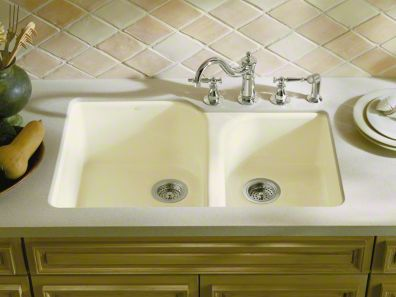Kohler Executive Chef Sink, Undermount, white cast iron