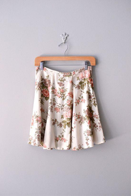 vintage brambleflower skirt
