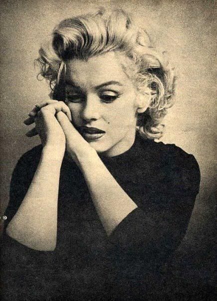 beautiful, black and white Marilyn Monroe