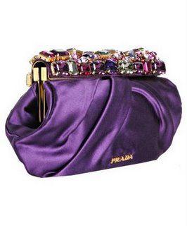 Purple Prada Jeweled Evening Bag