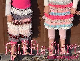 Girl's quick ruffle skirt tutorial