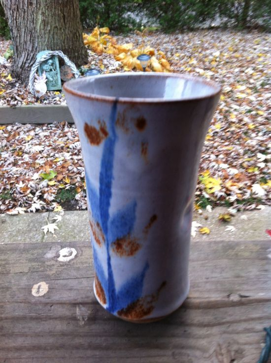 $.99 handmade pottery vase. Signed. Found at Goodwill