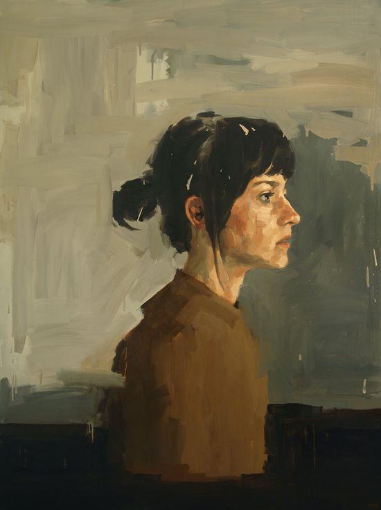 beautiful.  The Separation,  Large Art Print of Original Oil Painting Portrait. $50.00, via Etsy.