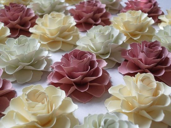 The Rosetta Paper Flowers Handmade Paper Flowers -   by DragonflyExpression