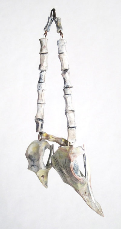 "Thomas Hill: ""Bird Skull and Vertebrae"" Pendant"