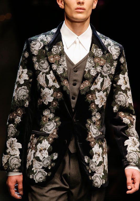 Details from the #dolcegabbana Winter 2014 Mens collection