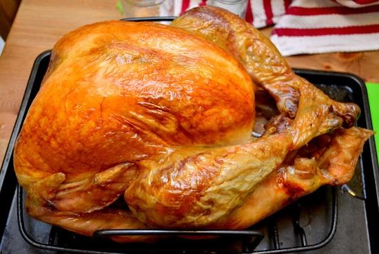 brined and roasted turkey recipe