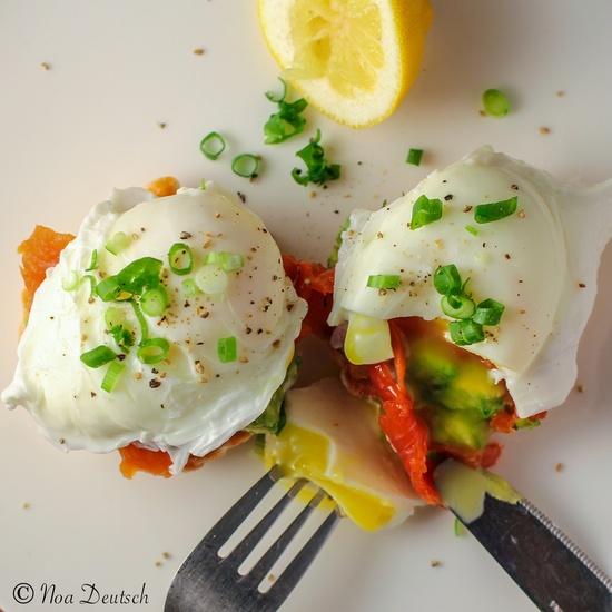 Double Salmon Eggs Benedict by fuelingenduranceperformance #Egs #Salmon