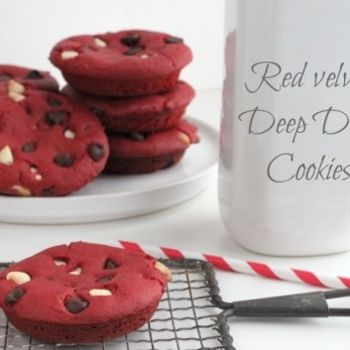 Red Velvet Deep Dish Cookies
