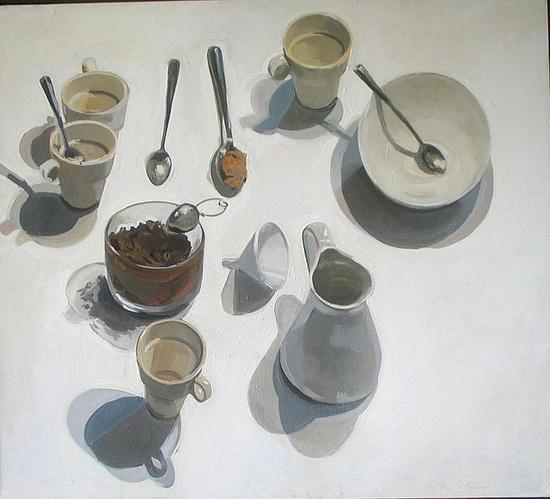 Bodegon. Oil on canvas 60inx48in. Rodrigo de Mendoza