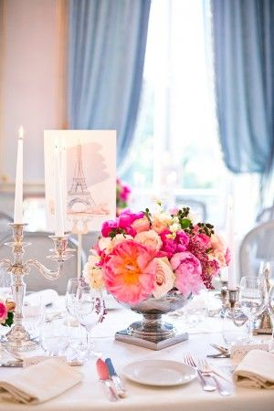 Paris inspired tablescape