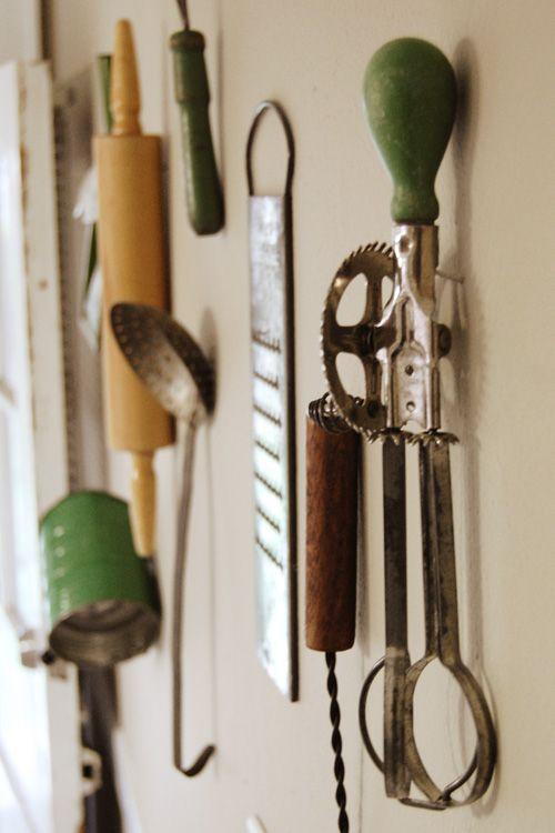 kitchen, utensils, wall decor, vintage, antiquekitchen